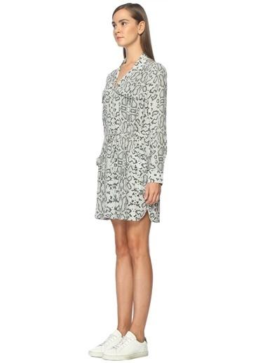 Uzun Kollu Desenli Mini Elbise-Equipment
